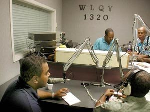 WLQY - A talk show in progress at WLQY studios.