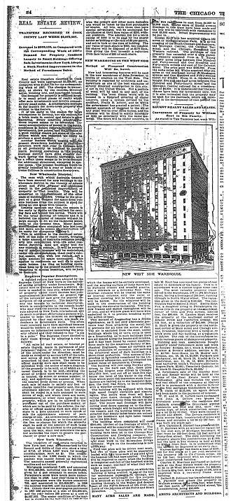 Fulton House (Chicago) - Image: FH Landmark Wolff Tribune