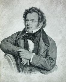 Franz Schubert, Lithografie von C. Helfert nach Josef Kriehuber (postum) (Quelle: Wikimedia)