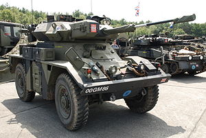 Fox armoured reconnaissance vehicle - FV721 Fox in Ursel, Belgium
