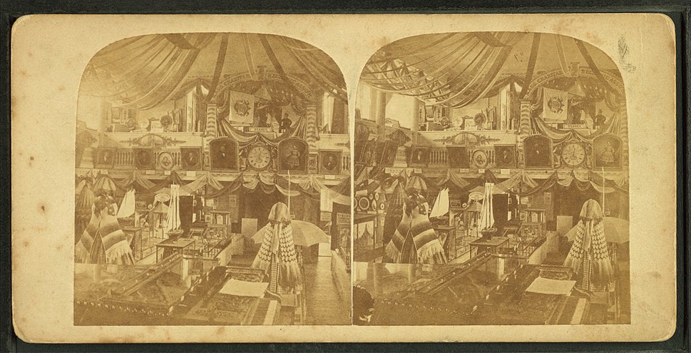 Fair at Faneuil Hall, Boston, from Robert N. Dennis collection of stereoscopic views
