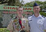 Father, son, squadron team renovates massacre memorial 140714-F-EP111-058.jpg