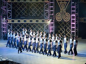 English: Warriors scene from Michael Flatley's...