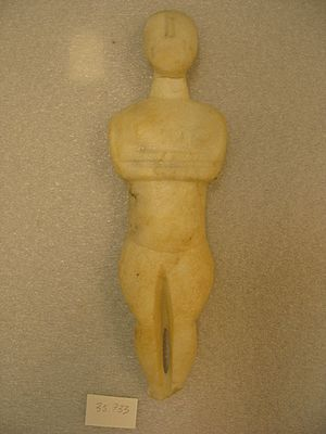 Cycladic art - Female marble figure (c. 3000 BC; Brooklyn Museum)