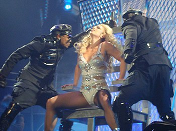 "English: Britney Spears performing ""Hold ..."