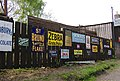 Fence Of Old Signs At Blists Hill - geograph.org.uk - 454492.jpg