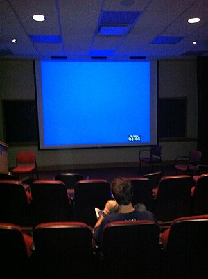 Film studies - Film screening room at Georgetown University
