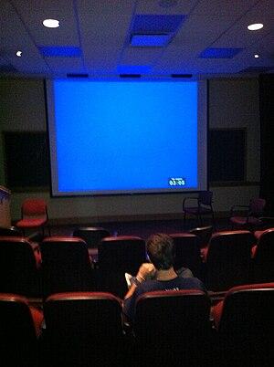 Film studies - Film screening room at Georgetown University