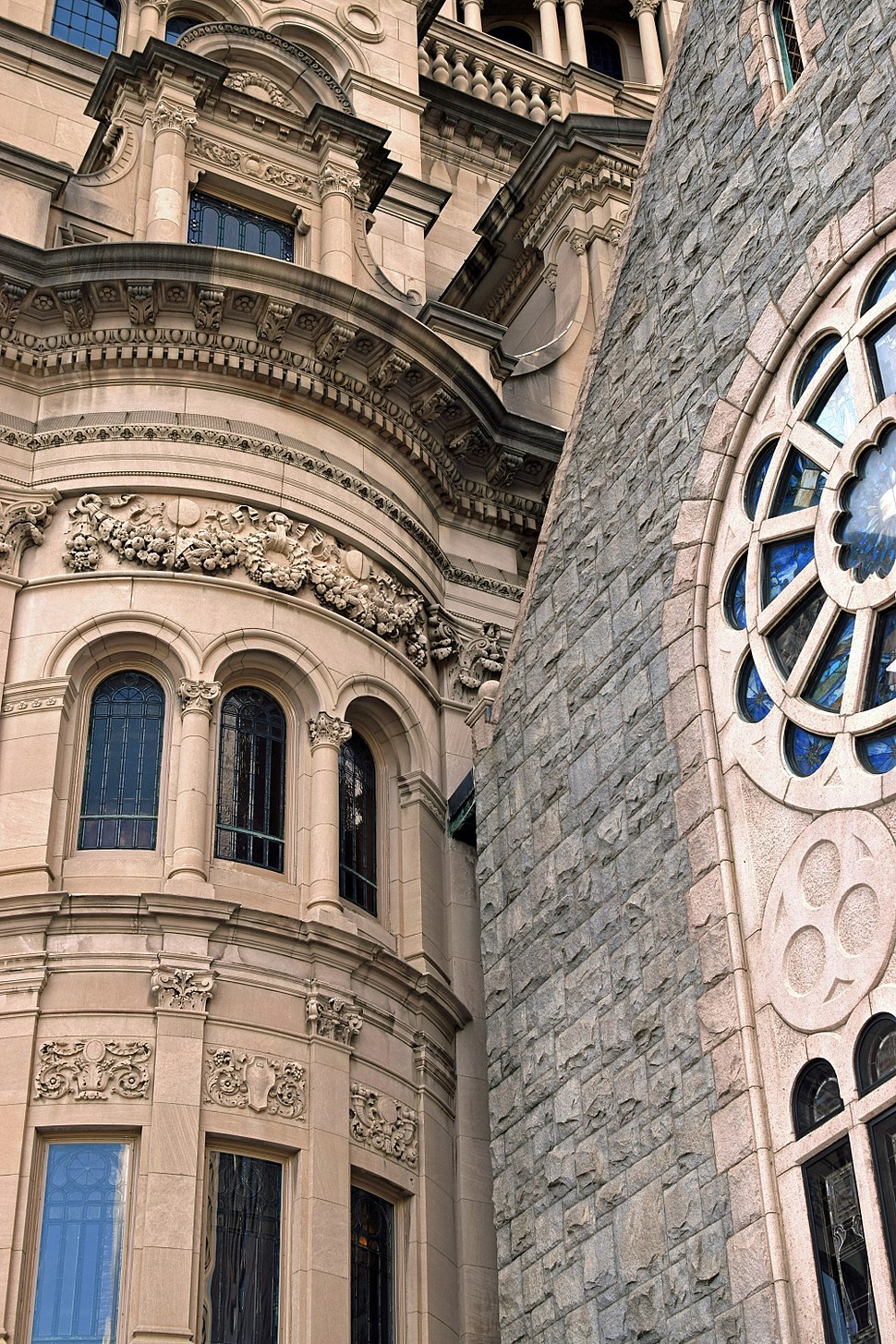 First Church of Christ Scientist in Boston (closeup)