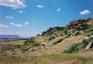 First People's Buffalo jump, SW of Great Falls, Montana