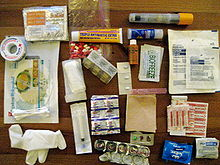 First aid kit for tropical country - unpacked.jpg