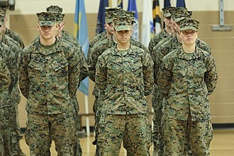 Two of the first female graduates of the School of Infantry-East's Infantry Training Battalion course, 2013 First three female Marines graduate Infantry training course 131121-M-JR212-076.jpg