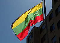 Flag at the Embassy of Lithuania in Washington, DC.jpg