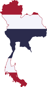 Flag map of Thailand.svg
