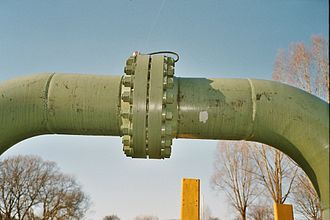 Flange - ASME type flange on a gas pipeline