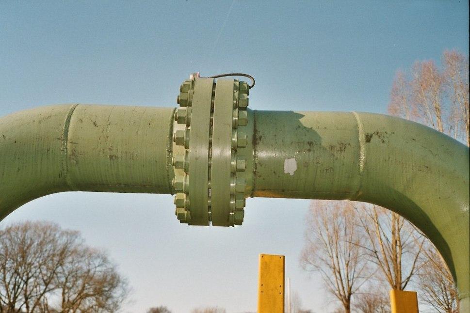 Flanschverbindung Gasleitung