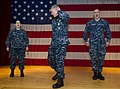 "Flickr - Official U.S. Navy Imagery - MCPON Rick D. West calls for a ""Hooyah"" from the audience..jpg"