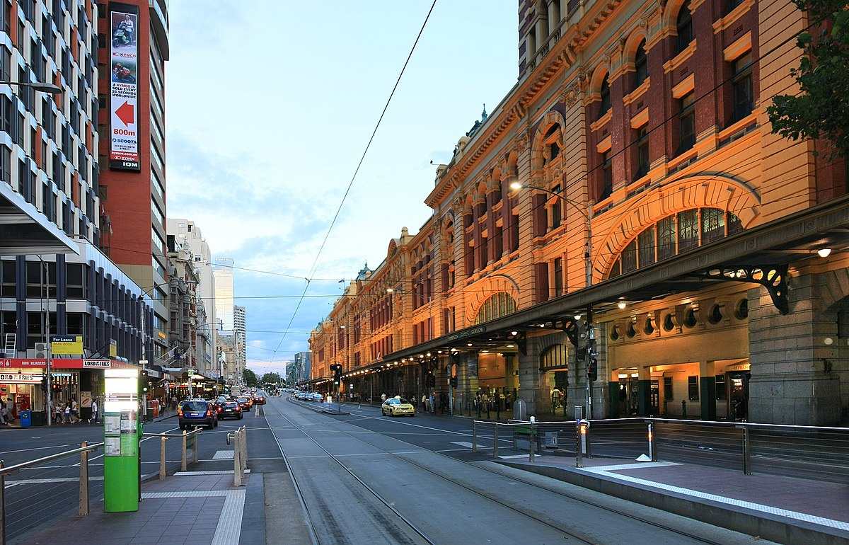 flinders street melbourne wikipedia. Black Bedroom Furniture Sets. Home Design Ideas