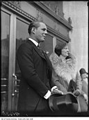 Flora McCrae Eaton and son John David Eaton at opening of store on College Street.jpg