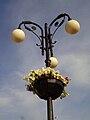 Flower compositions on Yoshkar-Ola's lanterns.JPG