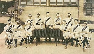 Fluminense FC - The Fluminense team in 1908, posing with the trophies won