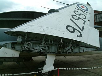 Folding wing - Image: Folding wing of De Havilland Sea Vixen