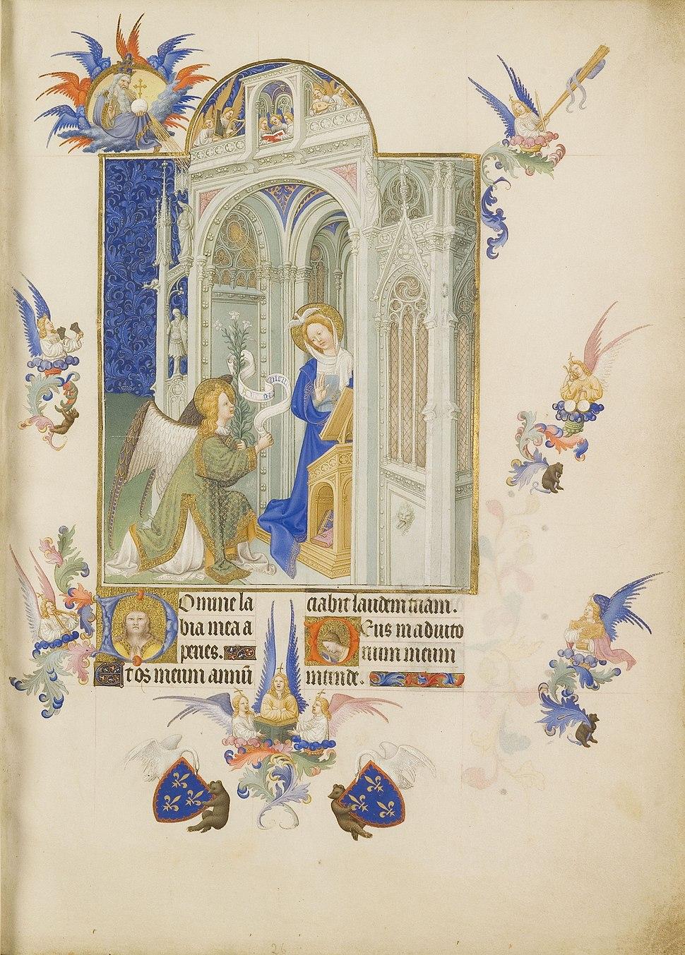 Folio 26r - The Annunciation