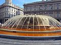 Fontana di Piazza De Ferrari a genova, tinta di arancio 01.JPG