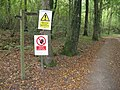 Forestry warning signs in Petsalls Copse - geograph.org.uk - 1544444.jpg