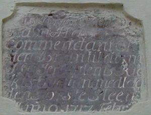 New Jerusalem Church, Tranquebar - Foundation Stone in Danish (1717), New Jerusalem Church