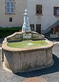 Fountain near Church of Our Lady of the Assumption of Les Pradeaux.jpg