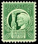 Four Freedoms 1c 1943 issue U.S. stamp.jpg