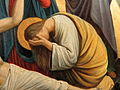 Fr Pfettisheim Chemin de croix station XIII - Mary Magdalene weeping.jpg