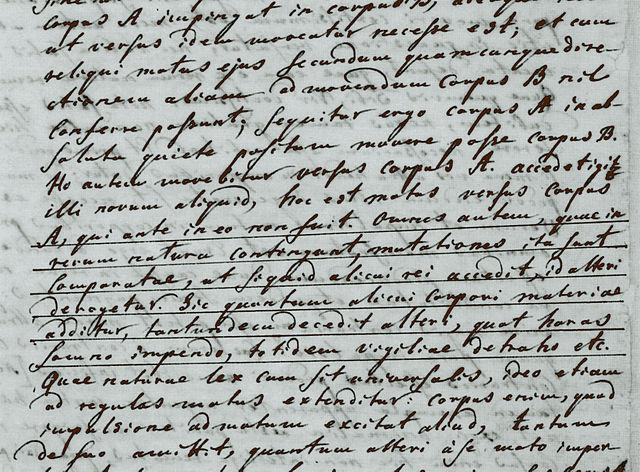 Фрагмент письма Михаила Ломоносова Леонарду Эйлеру. 5 июля 1748 года