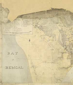 Sitakunda Upazila - Sitakunda coast featured in a map from 1818