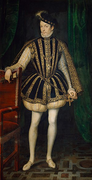 Charles IX of France - Charles IX as an adult, by François Clouet.