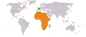 France–Africa relations - Map of France-Africa relations.