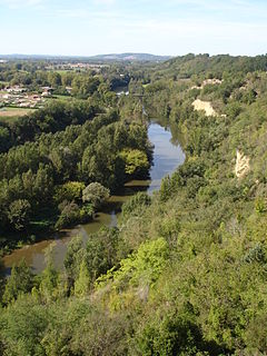 Agout River in southern France