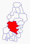 Location of the Central District within the Department of Francisco Morazán