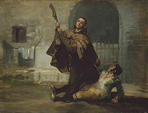 Francisco de Goya - Friar Pedro Clubs El Maragato with the Butt of the Gun