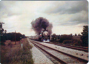 Southern Pacific 4449 - Image: Freedom train in ga 3