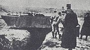 French armoured Baby Holt experiment at Sauain 9 December 1915