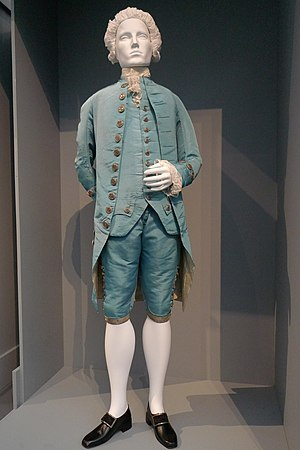 Slim-fit pants - Tight fitting breeches, as worn during the 17th and 18th centuries as part of the three piece suit