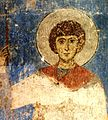Fresco of St. George in Kintsvisi, Georgia.jpg