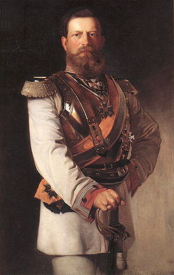 Friedrich III as Kronprinz - in GdK uniform by Heinrich von Angeli 1874.jpg