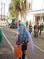 Fringe Parade 2012 SClaude SMargaret Parasol Wave.JPG