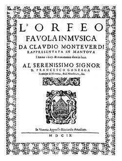 Image illustrative de l'article L'Orfeo