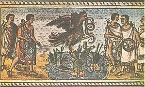 National symbols of Mexico - Image: Fundacion de la Ciudad de Mexico Extracto del codice Duran