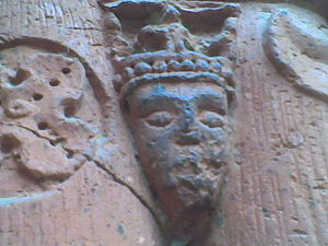 Adelaide of Poland - The head of Adelaide on the doors of St. James' Church in Sandomierz.