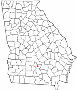 Location of Ocilla, Georgia